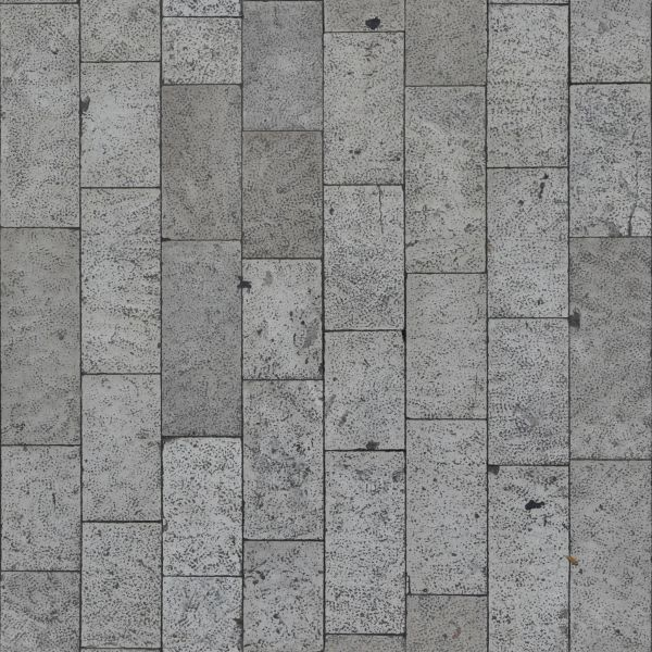 Seamless pavement texture consisting of rectangular stones with rough surface.