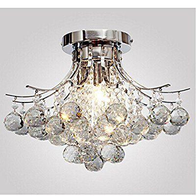 ALFRED® Kronleuchter Moderne Kristall 3 Leuchtet, Mini Style Putz  Deckenleuchte Fixture Zur Studie Raum