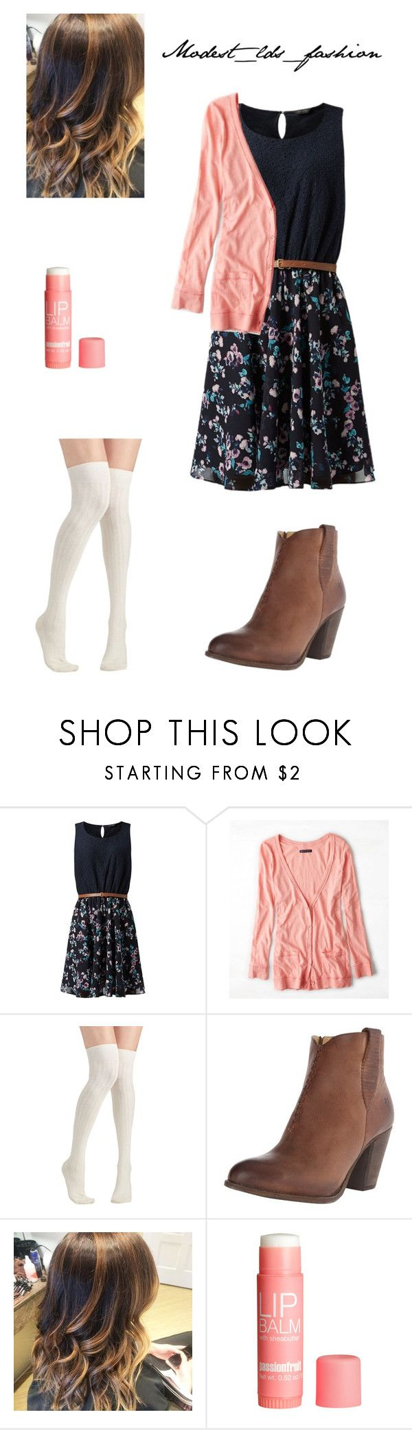"""""""Modest_lds_fashion"""" by modest-mormon-fashion ❤ liked on Polyvore featuring American Eagle Outfitters, Frye and H&M"""