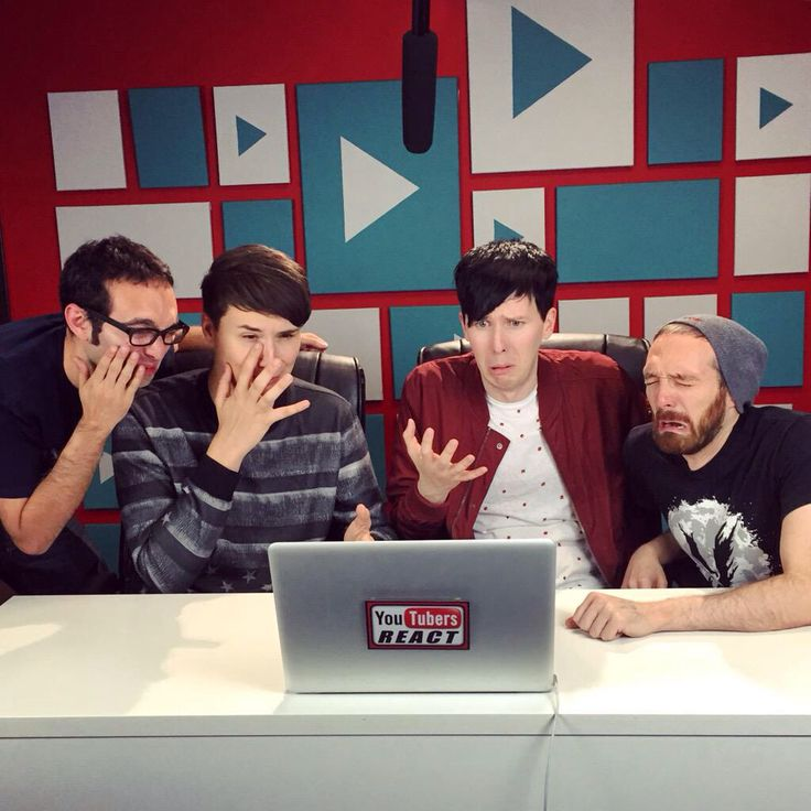 #danisnotonfire #amazingphil On YouTubers react!