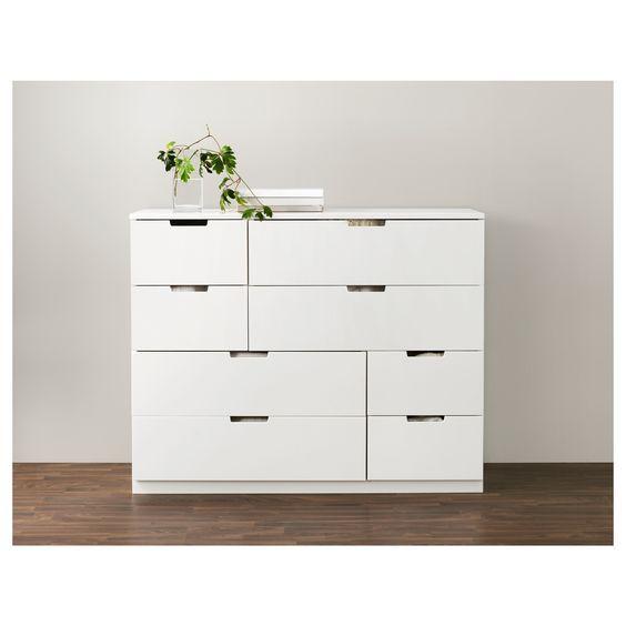 NORDLI Byrå med 8 lådor - IKEA