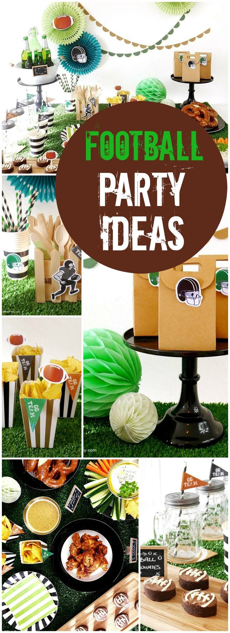 This Super Bowl party is all done in a neutral palette! See more party ideas at CatchMyParty.com!