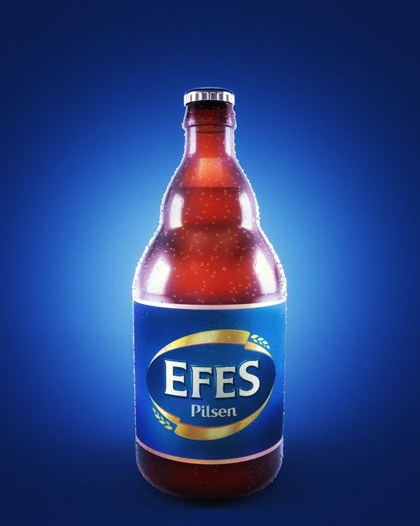 Efes Pilsen 3d by ahmet mahmut, via Behance