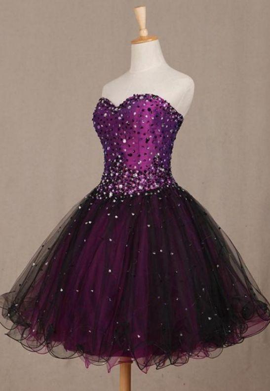 7ba8e70de49 Customized Purple Homecoming Dresses