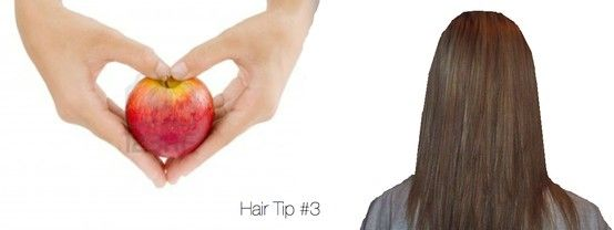 STRAIGHTEN YOUR HAIR WITH NO HEAT USING AN APPLE! 1. Crush an apple as hard as you can over a bowl. Make sure a bunch of juice gets into the bowl. (You can cheat a little with apple juice) 2. Mix the juices with a leave in conditioner.  3. Apply to damp hair and let dry.   Enjoy your beautifully straight hair!  An apple a day keeps your hair looking great! ♡