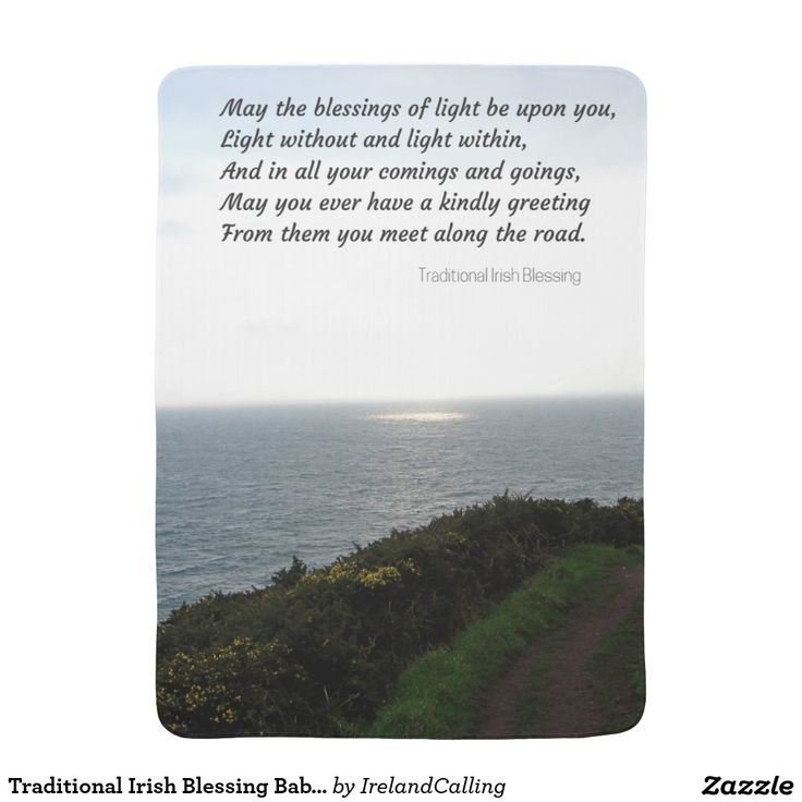 Traditional Irish Blessing Baby Blanket
