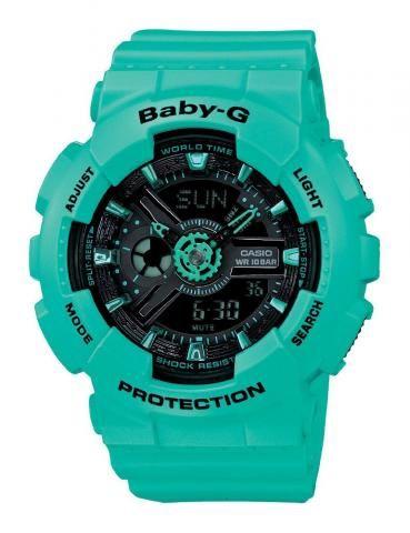 BABY G-SHOCK HORLOGE | Turqouise dameshorloges | http://www.horlogesstyle.nl/g-shock-horloges #dameshorloge #gshock