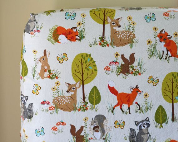 Woodland Baby Nursery Bedding Crib Sheet or Changing Pad
