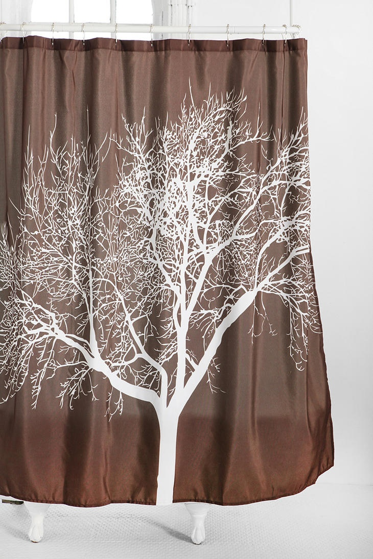Perfect shower curtain for an earthy brown and white and maybe even some green themed bathroom. $44.00 from Urban Outfitters.