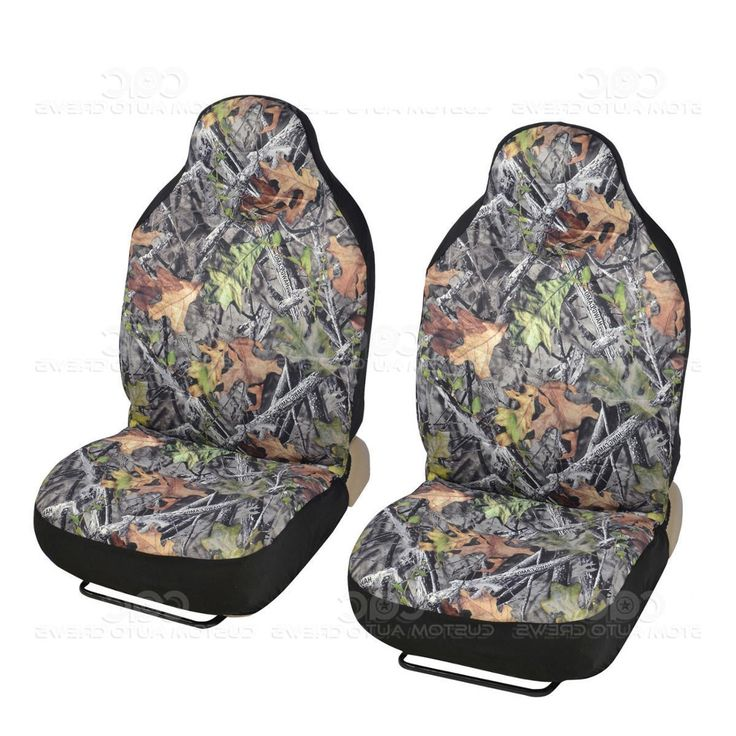 Unique Front Camo (Green) Seat Covers High Back Pro Camouflage for Cars Trucks SUVs (Color)