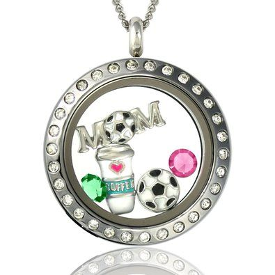 104 best lockets with charms inside images on pinterest origami necklace with charms inside locket amazoncom soccer mom floating charms locket magnetic pendant aloadofball Image collections