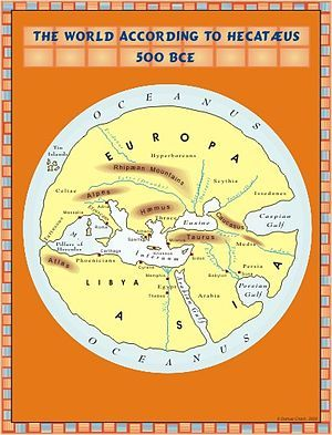 The world according to Hekat¦us 500 BC Just Maps