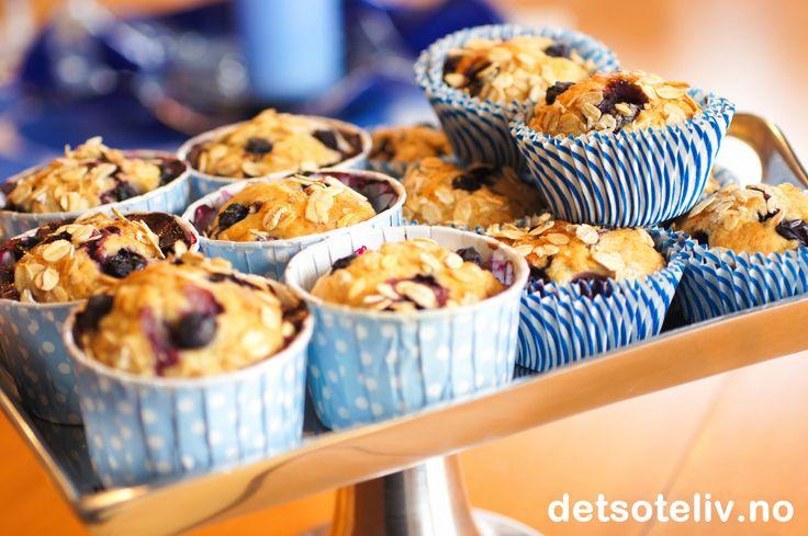 Muffins med blåbær og banan | Det søte liv