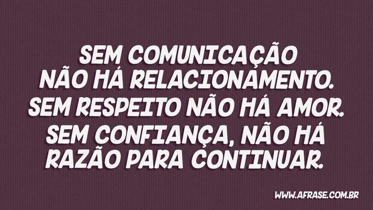 Sem comunicação não há amor