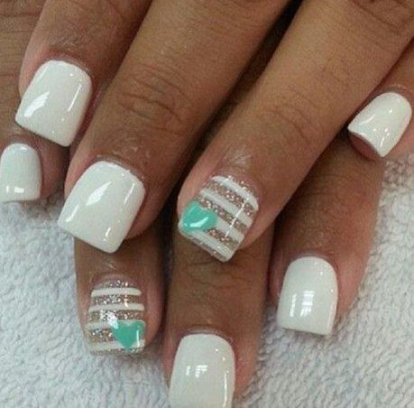 Simple white nail design,20 Most Popular Nail Design Ideas nail nails. It's