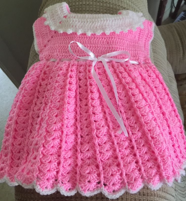 A personal favourite from my Etsy shop https://www.etsy.com/ca/listing/522296332/hand-crochet-baby-dress