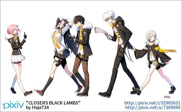 【haje】「CLOSERS BLACK LAMBS」イラスト/Haje714 [pixiv]