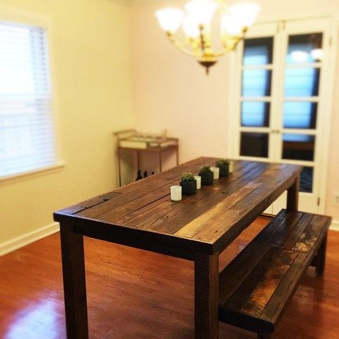 Barnwood Dining table rustic dining table by BarnwoodFurnitureCo