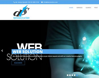 """Check out new work on my @Behance portfolio: """"Dtec Solution A Software House"""" http://be.net/gallery/46974327/Dtec-Solution-A-Software-House"""