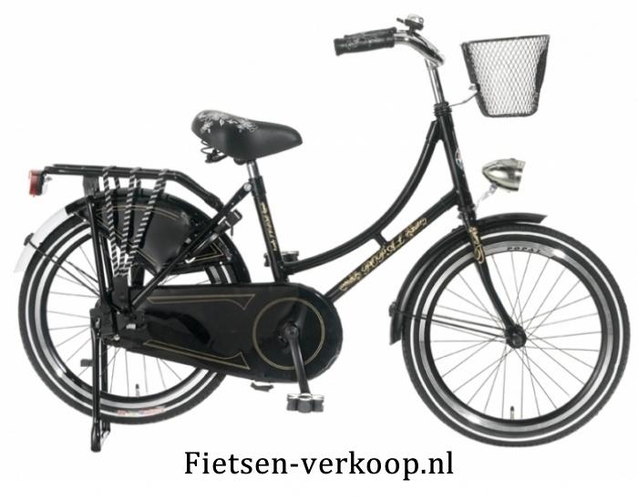 Omafiets Zwart 22 Inch | bestel gemakkelijk online op Fietsen-verkoop.nl