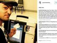 Justin Timberlake in trouble for voting booth selfie? Technically Incorrect: He went to his home of Tennessee to vote. He posted a selfie next to the voting machine. Now the local DA is reviewing that selfie, as taking photographs at the polling place is illegal in the state.