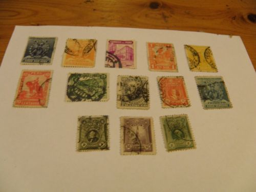 13 1896 to 1934 stamps of Peru. Sold продано