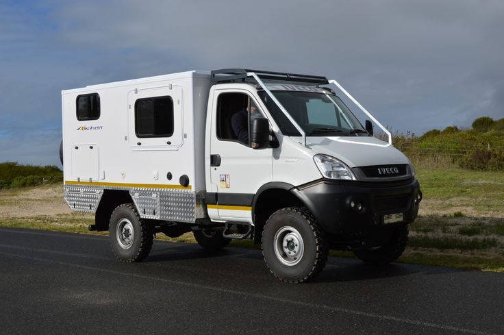 IVECO 4x4 motorhome, this one is with a pop-up roof system.