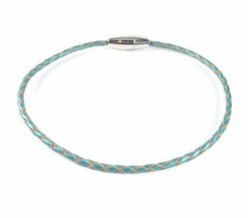 Turquoise Braided Leather Anklet