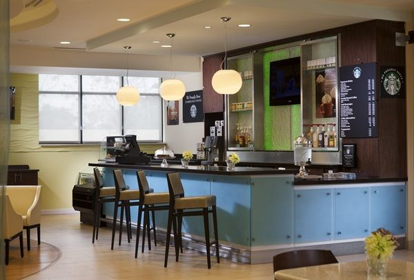 Wake up with a Starbucks coffee from the SpringHill Suites Orlando at SeaWorld.