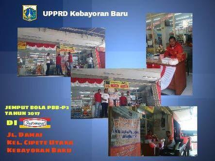 UPPRD Kebayoran Baru jemput bola PBB-P2 di Indomaret wilayah Kebayoran Baru bagi warga yang ingin membayar PBB-P2