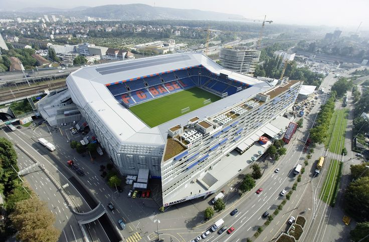 St. Jakob Park Stadium in Basle, Switzerland. Home of FC Basel and also called Joggeli