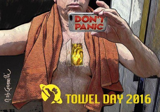 Buon Towel Day 2016! Sapete con certezza dove sta il vostro asciugamano? #towelday #douglasadams #towelday2016