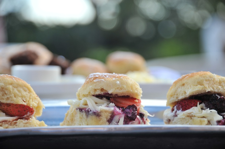 Scones with berries.