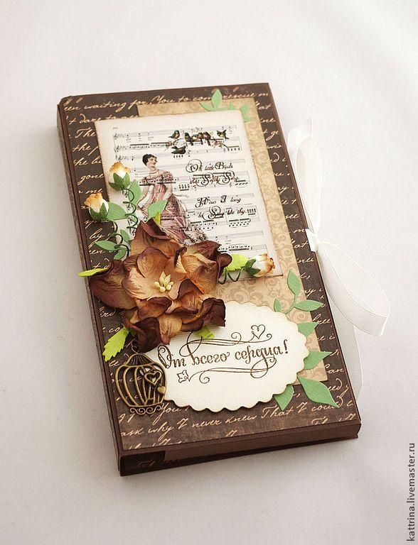 """Шоколадница с чаем """"Вкус шоколада"""" - шоколад,шоколадка,открытка,открытка на день рождения"""