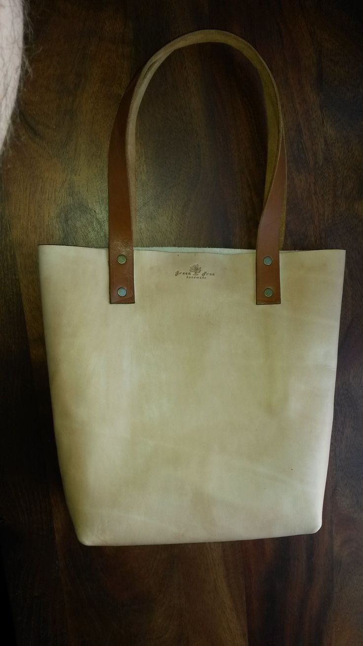 Veg tan leather Tote bag