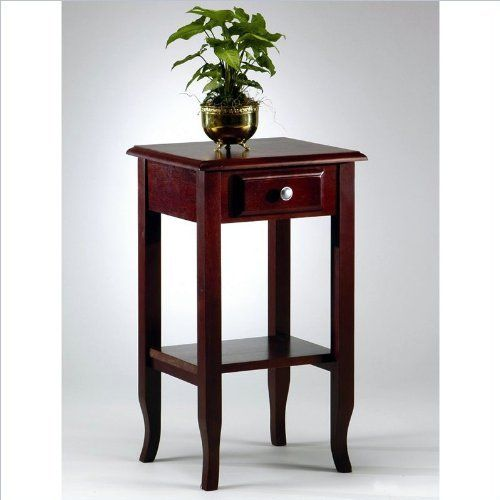 Montego Contemporary Merlot Wood Square End Table W Drawer: Tables Images On Pinterest