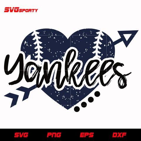 Download New York Yankees Heart SVG, yankees svg, mlb svg, eps, dxf ...