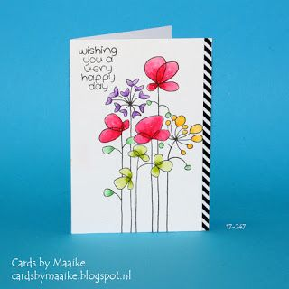 Cards by Maaike: Talens ecoline, Woodware stamps and a desk organisation tip, with video