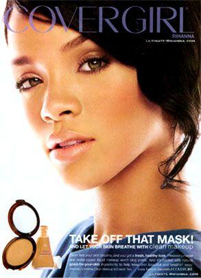 Rihanna under Cover Girl Magazine. Good endorsement.