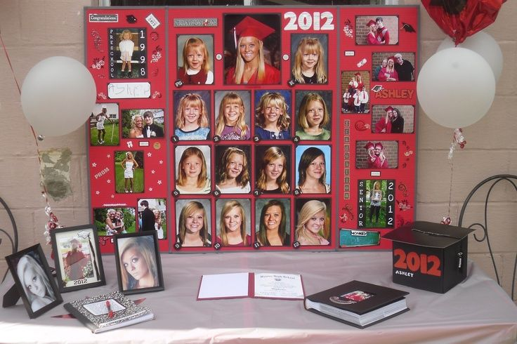 Graduation Party Ideas For Displaying Pictures Pin By Kristi Evers On