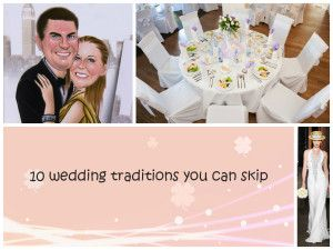 Ten Wedding traditions you can skip | Mad tungsten rings