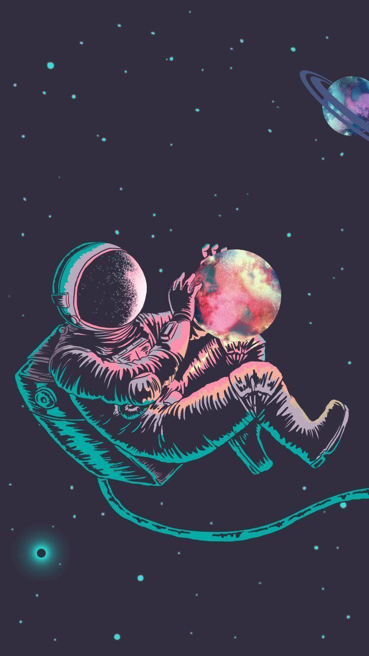 astronaute espace univers galaxie aesthetic nasa space