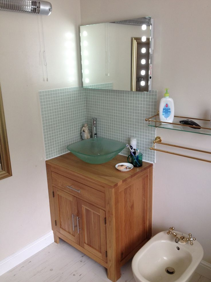 1000 images about clickbasin customers bathroom ideas on for Bathroom ideas with oak cabinets