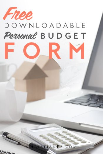Free personal budgeting form that you can download to start your budgeting process!