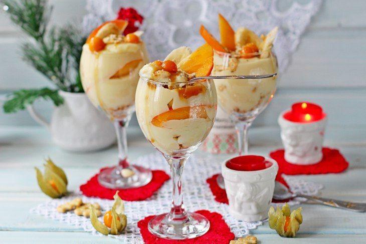 Трайфл с заварным кремом, бананом и хурмой. Обсуждение на LiveInternet - Российский Сервис Онлайн-Дневников