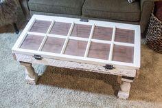 Salvaged Window DIY Coffee Table | Unique Coffee Tables DIY Ready