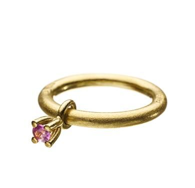 """Belle rosa safir (liten) - Sandberg Gold and safier"