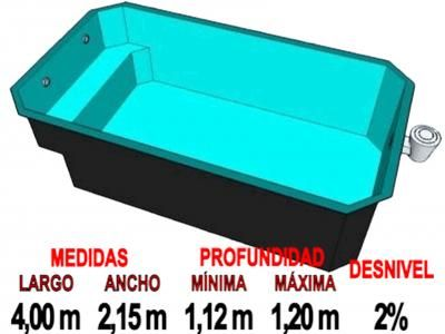 Piscinas prefabricada rectangular de fibra piscinas for Piscina rectangular