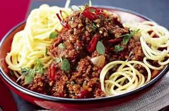 The whole family will enjoy this lower-fat spag bol recipe made with lots of veg and herbs, extra lean minced beef and wholemeal spaghetti. Get the recipe: Slimming World's spaghetti Bolognese