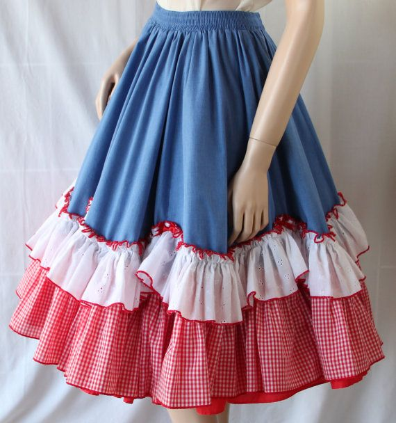 lovely ruffled square dance skirt, my kid would love it